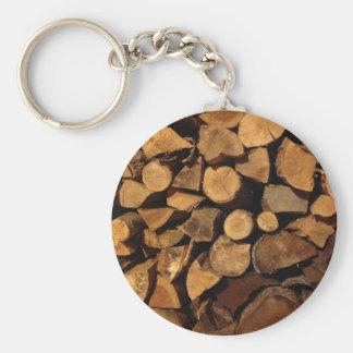 Chopped Fire Wood Key Chains