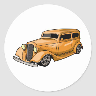 Chopped Hot Rod Round Stickers
