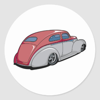 Chopped Merc Round Sticker