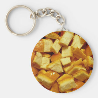 Chopped orange peel keychain