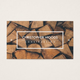 Chopped wood business card