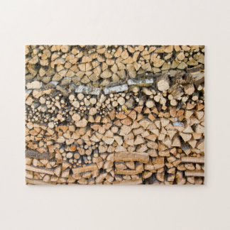 Chopped wood on a pile jigsaw puzzle