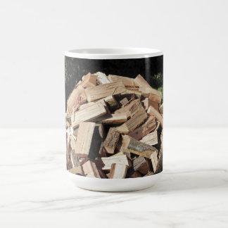 Chopped Wood Pile Outside Coffee Mug