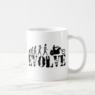 Chopper Biker Motorcycle Rider Evolution Art Coffee Mug