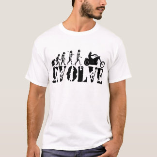 Chopper Biker Motorcycle Rider Evolution Art T-Shirt