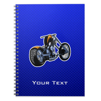 Chopper; Blue Spiral Notebook