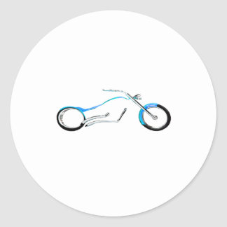 Chopper Dreaming Cyan The MUSEUM Zazzle Gifts Round Stickers