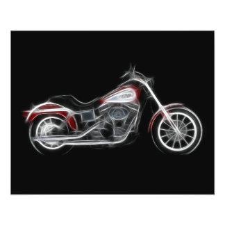Chopper Hog Heavyweight Motorcycle 11.5 Cm X 14 Cm Flyer