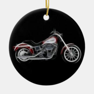 Chopper Hog Heavyweight Motorcycle Round Ceramic Decoration