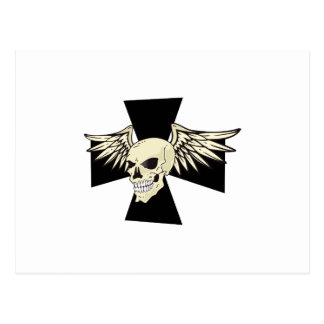 CHOPPERS WINGED SKULL POSTCARD