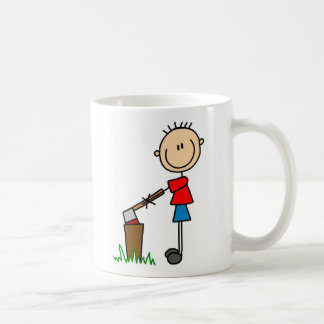 Chopping Wood Camping Mug
