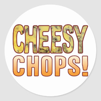 Chops Blue Cheesy Classic Round Sticker
