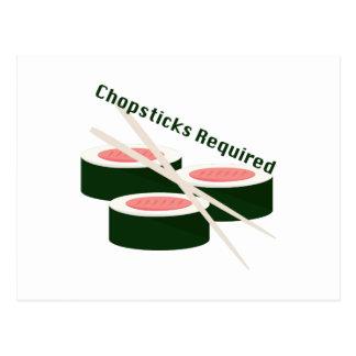 Chopsticks Required Postcard