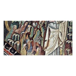 Chor Mosaics At San Vitale In Ravenna Szene Mose Photo Cards