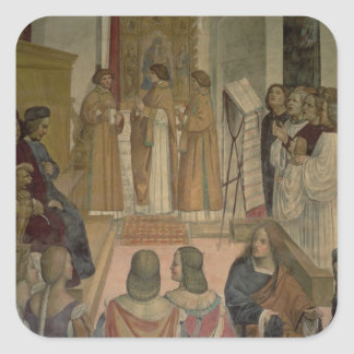 Choral Scene, from the Life of St. Benedict (fresc Square Sticker