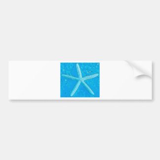 Choral Starfish Blue Car Bumper Sticker