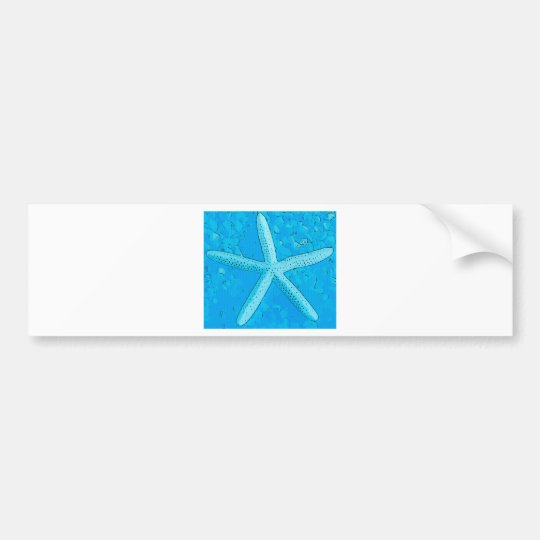 Choral Starfish Blue Bumper Sticker