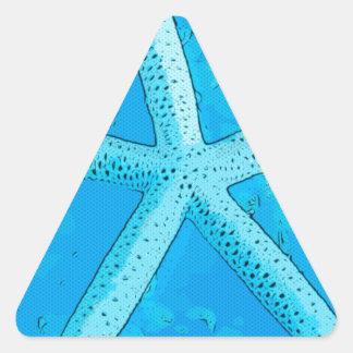 Choral Starfish Blue Triangle Sticker