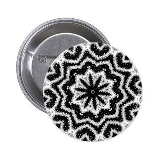 chorale b&w mandala 6 cm round badge