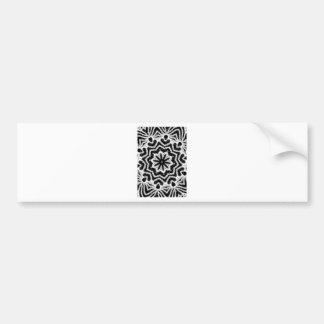 chorale b&w mandala bumper sticker