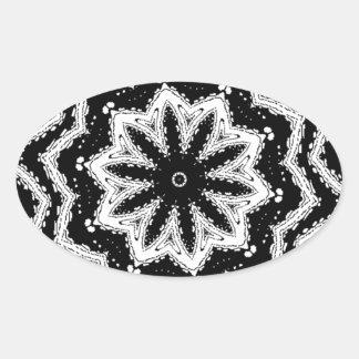 chorale b&w mandala oval sticker