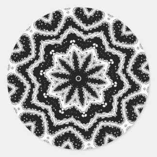 chorale b&w mandala round sticker