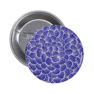 chorale blue mandala 6 cm round badge