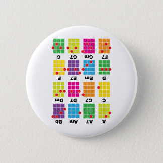 Chord Cheat Tee White 6 Cm Round Badge