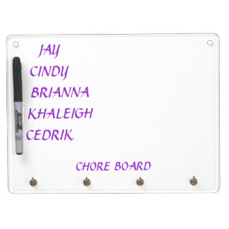 Chore Board and Key rack Dry Erase Whiteboard