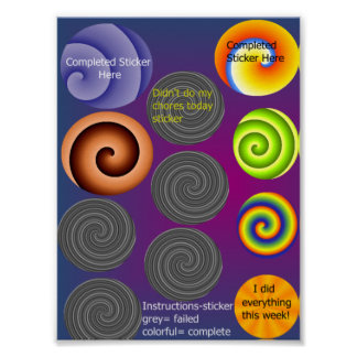 Chore Sticker Chart Poster