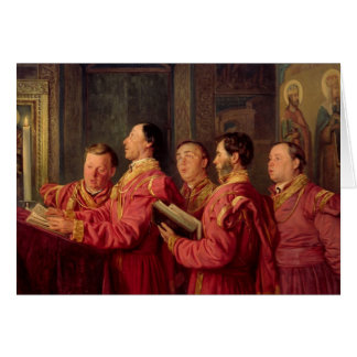 Choristers in the Church, 1870 Greeting Cards