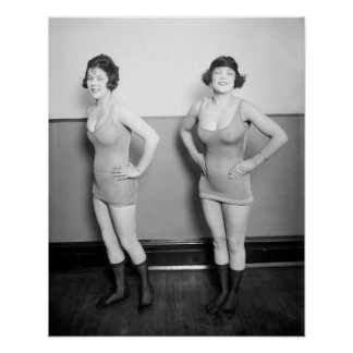 Chorus Girls, 1920. Vintage Photo Poster