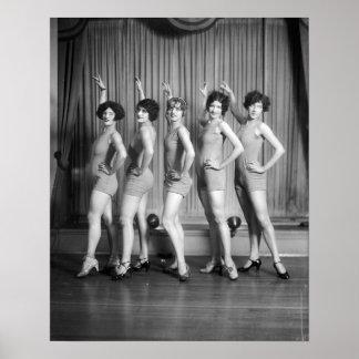 Chorus Girls, 1927 Print