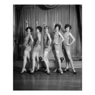 Chorus Girls, 1927. Vintage Photo Poster