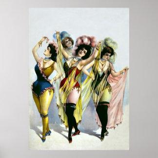 Chorus Girls ~ Vintage Theatre Poster