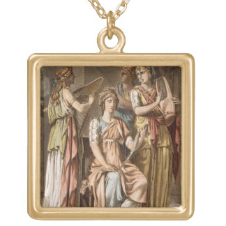 Chorus of Israelite Women, costumes for 'Esther' b Gold Plated Necklace