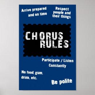 Chorus Rules Poster