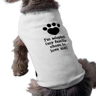 Chose to love sleeveless dog shirt