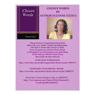 CHOSEN WORDS- BOOK PROMOTION GIFTS 17 CM X 22 CM INVITATION CARD