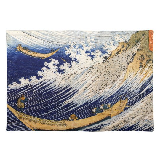 Choshi in the Simosa province by Hokusai Place Mats