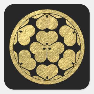 Chosokabe Mon Japanese samurai clan Square Sticker