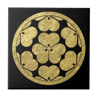Chosokabe Mon Japanese samurai clan Tile