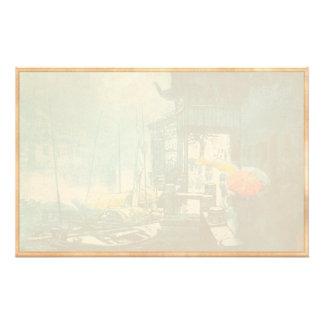 Chou Xing Hua Suzhou Scenery chinese painting Stationery Design