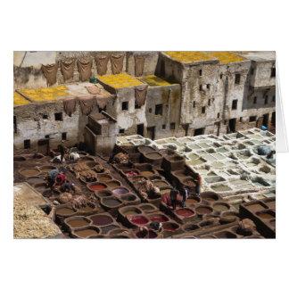 Chourara tannery, Fez Card