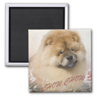 CHOW CHOW among roses Magnet