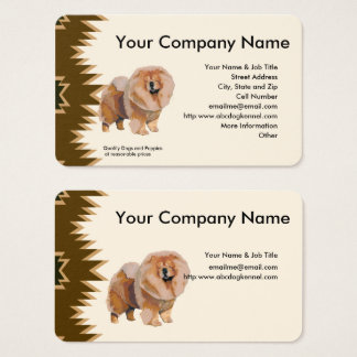 Chow Chow, Brown design on tan Business Card