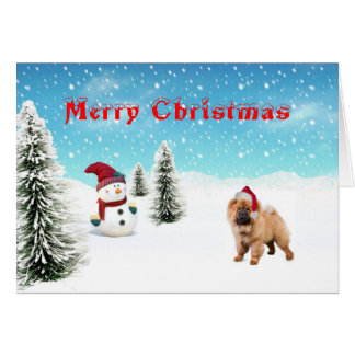 Chow chow Christmas Card