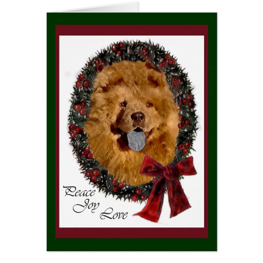 Chow Chow Christmas Gifts Card