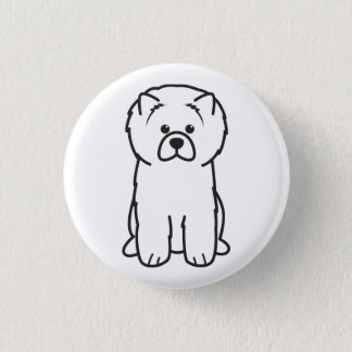 Chow Chow Dog Cartoon 3 Cm Round Badge