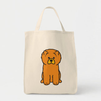 Chow Chow Dog Cartoon Tote Bag